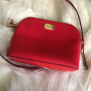 Michael Kors Red Dome Crossbody